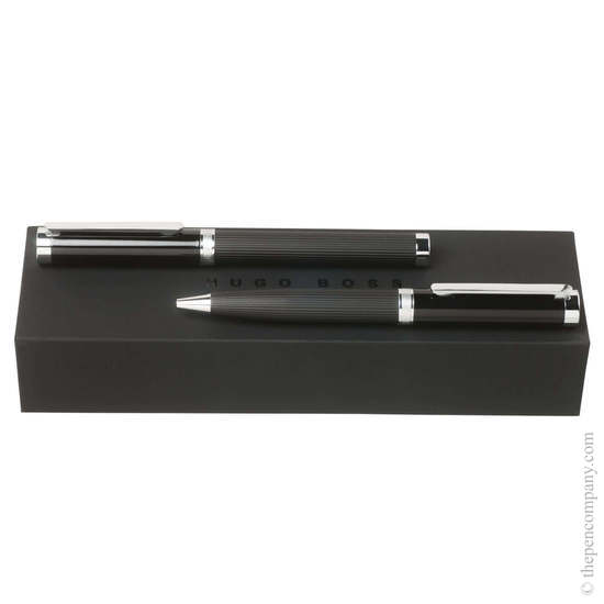 Stripes Hugo Boss Column Ballpoint and Rollerball Set - 1