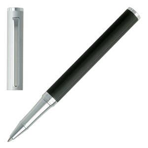 Black/Chrome Hugo Boss Reverse Rollerball Pen - 1