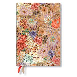 Midi Paperblanks Michiko 2019-2020 18 Month Diary Kikka Horizontal Week-to-View - 1