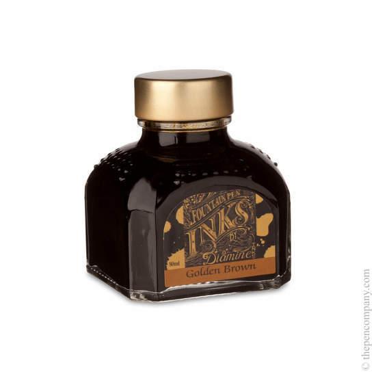 Diamine Golden Brown Fountain Pen Ink 80ml - 1