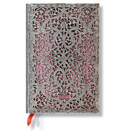Paperblanks Silver Filigree Blush Pink Mini 2016 Horizontal Diary - 1