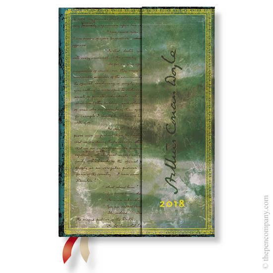 Mini Paperblanks Embellished Manuscripts 2018 Diary Conan Doyle, Sherlock Holmes Horizontal Week-to-