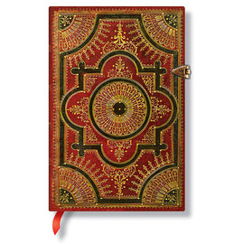 Lined Mini Paperblanks Baroque Ventaglio Rosso Journal - 1