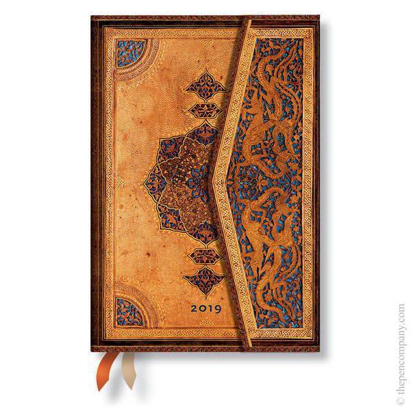 Mini Paperblanks Safavid 2019 Diary Horizontal Week-to-View