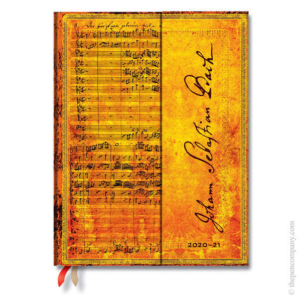 Ultra Paperblanks Embellished Manuscripts 2020-2021 18 Month Diary Academic Diary Bach, Cantata Vertical Week-to-View