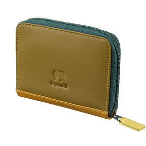 Mywalit Zip Around Fan Card Holder Evergreen - 1