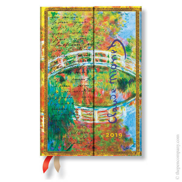 Mini Paperblanks Embellished Manuscripts 2019 Diary Monet (Bridge), Letter to Morisot Verso Week-to-View