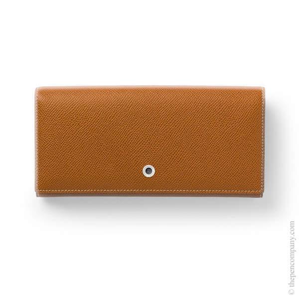 Cognac Graf von Faber-Castell Epsom Ladies Purse with Snap Fastener