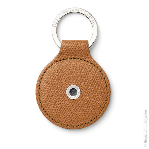 Cognac Graf von Faber-Castell Epsom Key Ring