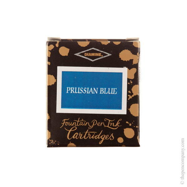 Prussian Blue Diamine Fountain Pen Ink Cartridges Pack of 6