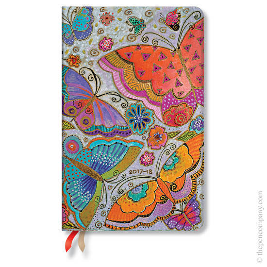 Maxi Laurel Burch Fluttebyes 2017-2018 18 Month Diary Flutterbyes Vertical Week-to-View - 1