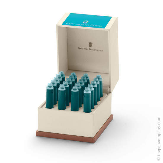 Turquoise Graf von Faber-Castell 20 Fountain Pen Ink Cartridges - 2