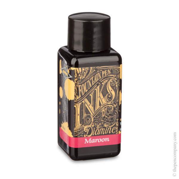Maroon Diamine Bottled Fountain Pen Ink 30ml