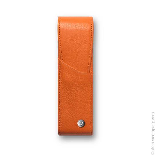 Saffron Caran d Ache Leman Pen Case for Two Pens - 1
