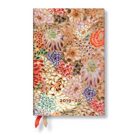 Mini Paperblanks Michiko 2019-2020 18 Month Diary Kikka Horizontal Week-to-View - 1