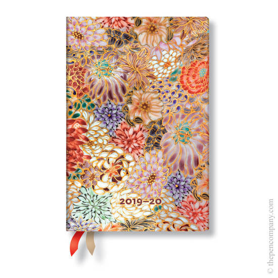 Mini Paperblanks Michiko 2019-2020 18 Month Diary Kikka Horizontal Week-to-View - 1