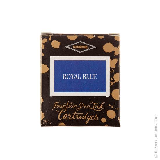 Diamine Royal Blue Fountain Pen Cartridges 6 Pack - 1