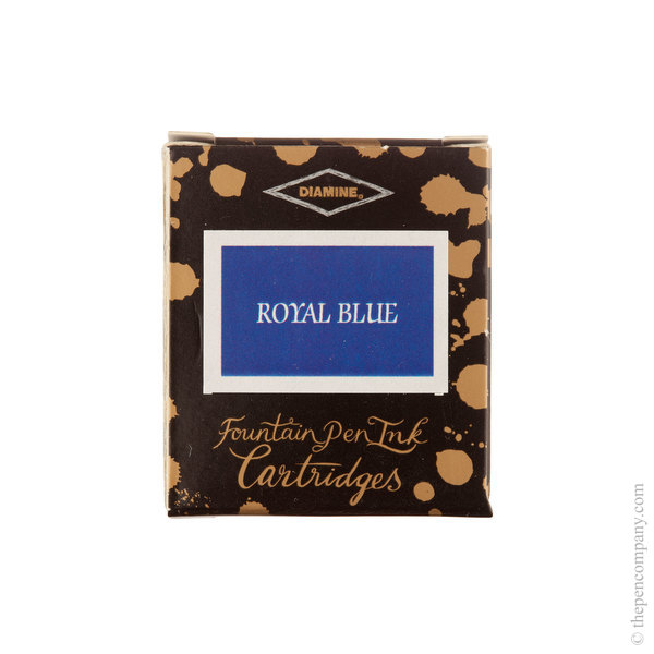Royal Blue Diamine Fountain Pen Ink Cartridges Pack of 6