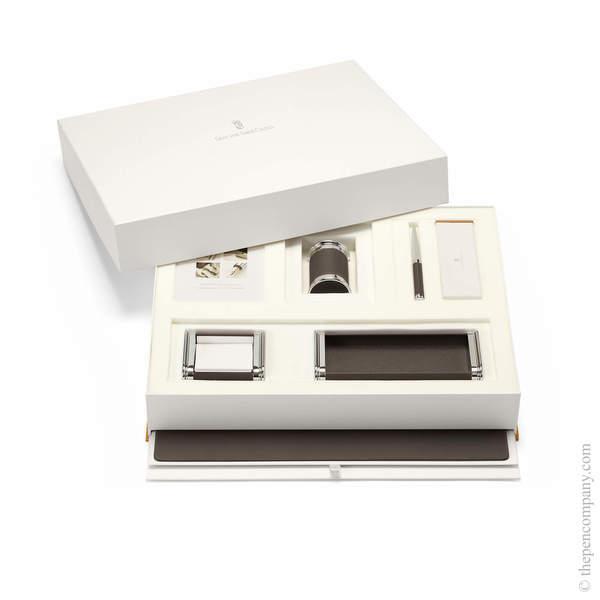 Dark Brown Graf von Faber-Castell Epsom Desk Accessories Set Accessories Set