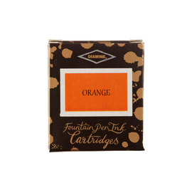 Diamine Orange Fountain Pen Cartridges 6 Pack - 1