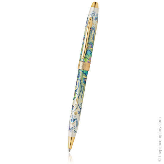 Green Daylily Cross Botanica Ballpoint Pen - 1