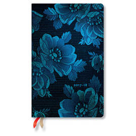 Maxi Chic and Satin 2017-2018 18 Month Diary Blue Muse Vertical Week-to-View - 1