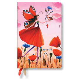 Mini Mila Marquis 2017-2018 18 Month Diary Poppy Field Horizontal Week-to-View - 1