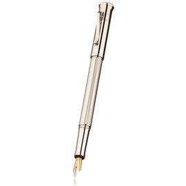 Graf von Faber-Castell Classic Platinum Fountain Pen OB Nib - 4