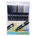 Tombow ABT 12 brush pen set - grey - 1