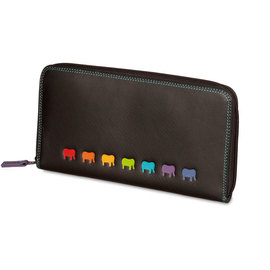 Mywalit Lucca Zip Around Purse Black - 2