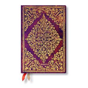 Paperblanks Viola Diamond Rosette 2021 Diary Mini