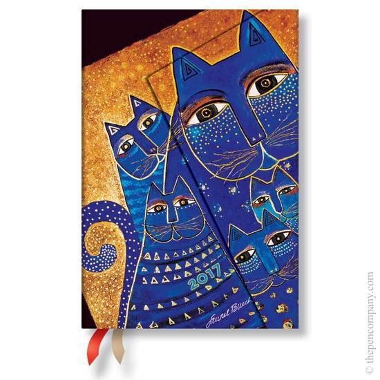 Paperblanks Mini Week-to-view Laurel Burch Mediterranean Cats 2017 Diary - 1