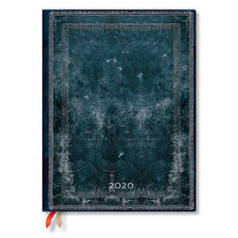 Ultra Paperblanks Old Leather Classics Flexi 2020 Diary Midnight Steel Vertical Week-to-View - 1