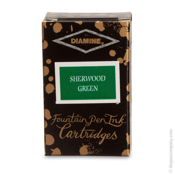 Sherwood Green Diamine Fountain Pen Ink Cartridges