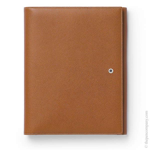 A5 Cognac Graf von Faber-Castell Epsom Writing Tablet Case
