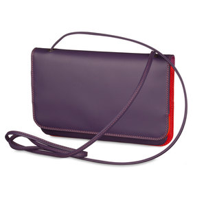 Mywalit Full Flap Multicomp Shoulder Clutch Bag Sangria Multi - 2