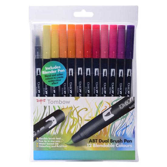 Tombow ABT 12 brush pen set - sunset - 1