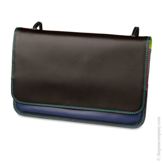 Mywalit Full Flap Multicomp Shoulder Clutch Bag Black Pace - 2