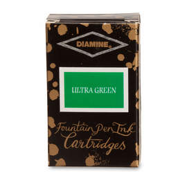 Ultra Green Diamine Fountain Pen Ink Cartridges - 2