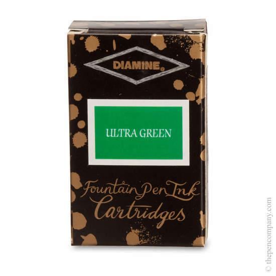 Ultra Green Diamine Fountain Pen Ink Cartridges - 2
