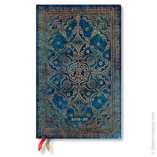 Maxi Paperblanks Equinoxe 2019-2020 18 Month Diary Azure Vertical Week-to-View - 1