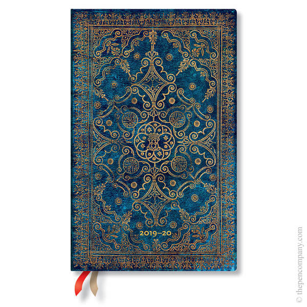 Maxi Paperblanks Equinoxe 2019-2020 18 Month Diary Academic Diary Azure Vertical Week-to-View
