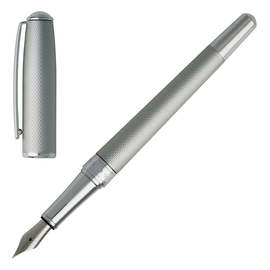 Matt Chrome Hugo Boss Essential Matte Fountain Pen - 2