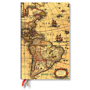 Paperblanks Western Hemisphere Early Cartograpy Academic Diary Maxi