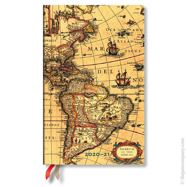 Maxi Paperblanks Early Cartography 2020-2021 18 Month Diary Academic Diary
