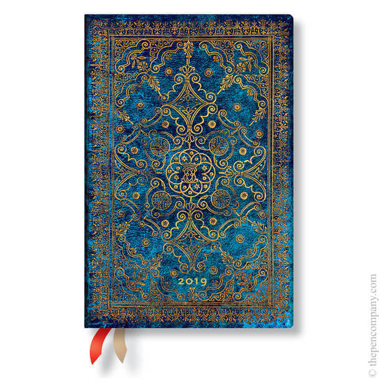 Mini Paperblanks Equinoxe 2019 Diary Azure Horizontal Week-to-View - 1