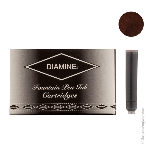 Chocolate Brown Diamine Fountain Pen Ink Cartridges