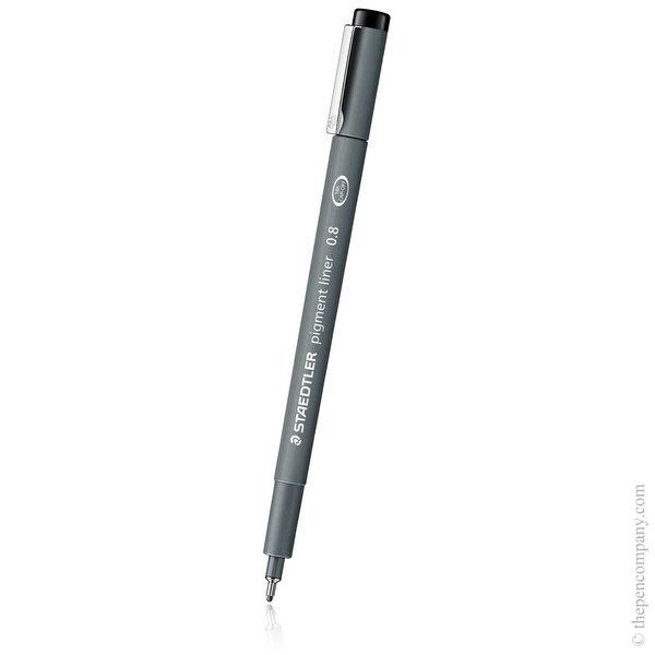 Black [9] Staedtler Pigment Liner Fineliner - 0.8mm