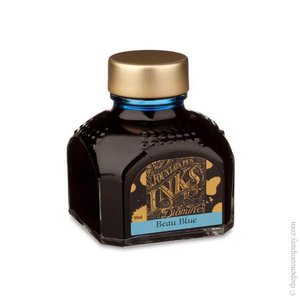 Beau Blue Diamine Bottled Fountain Pen Ink 80ml