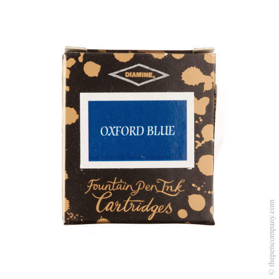 Oxford Blue Diamine Fountain Pen Ink Cartridges Pack of 6 - 1